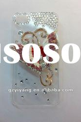 lady's cellphone cover with diamonds for 4g/4gs