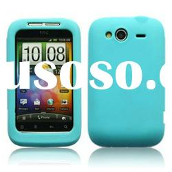 low factory price colorful silicon phone case for htc wildfire s