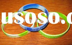 mixed-color Debossed Silicone Wristband with customized logo