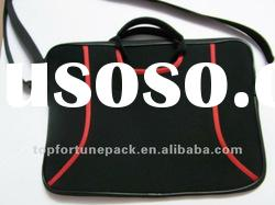 neoprene two-sided laptop case with handle