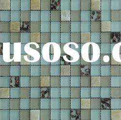 new design mosaic mat glass mix shell and stone mosaic tile