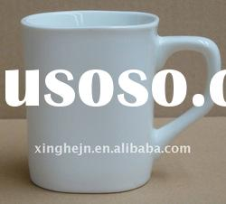 porcelain white coffee mug