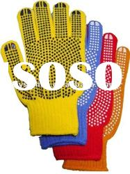 safety gloves PVC dotted