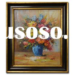 still life of flower oil paintings on canvas with frame