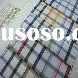 t/c yarn dyed fabric/check for men's shirt