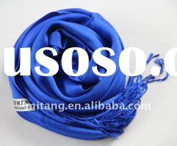 the newest hot sell long dark blue 100% artificial cotton scarf