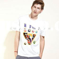 white custom high quality 100% cotton men s t shirt