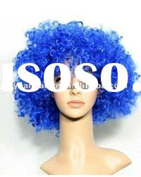 "10"" Blue, Loose wave, Synthetic lace front wigs"