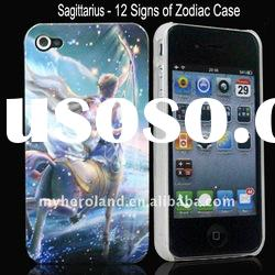 12 Signs of Zodiac Sagittarius Pattern Polished Hard Plastic Cover Case for iPhone 4 4G