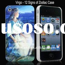 12 Signs of Zodiac Virgo Pattern Polished Hard Plastic Cover Case for iPhone 4 4G