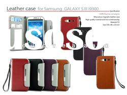 2012 Fashion Design Folio Leather Wallet Case Cover for Samsung Galaxy S III S3 i9300