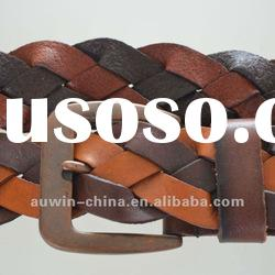 2012 fashion high quality genuine leather women's braid belts
