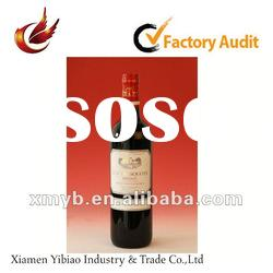 2012 promotional self adhesive wine bottle labels
