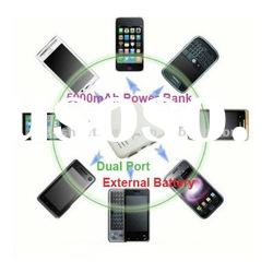 2 USB portable power charger with 5000mAh