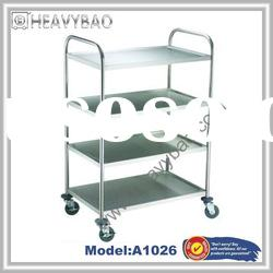 4 Tier Stainless Steel catering trolley A1026