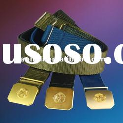 57mm Nylon military web belts with buckle and velcro