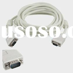 5M VGA Cable Male Male LCD Monitor VGA Extension Cable White