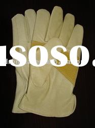 """9.5"""" AB pigskin driver style safety leather glove"""