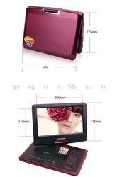 9.5 inch Portable DVD Player,3d evd portable dvd player