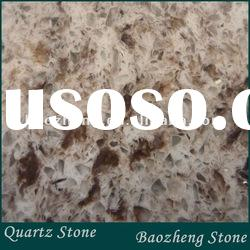 Brown with mirror quartz stone tile for floor/wall