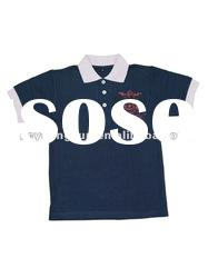 Children's polo shirt with logo on left chest