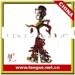 Chinese leather shadow puppets for home decor