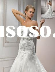 Delicate Sweetheart Fit and Flare Lace On Tulle Over Satin Bridal Wedding
