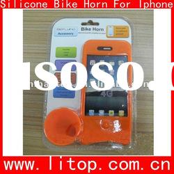 Easy free hand Silicone Bike horn for Iphone any color and logo customized gifts