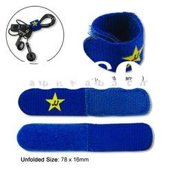 Elastic Device Wire Wrap Belt with Logo Printed