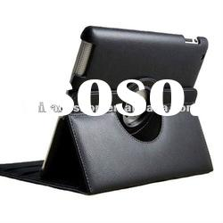 For iPad 2 360 degree Rotating Magnetic Leather Case Smart Cover