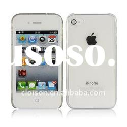 For iphone case ultra-thin flexible transparent case for iphone4, iphone4 transparent slim case