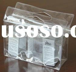 High Quality Clear PVC Plastic Packaging Bag with Zipper and Handle