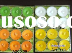 High quality colorful tea light candle for decoration