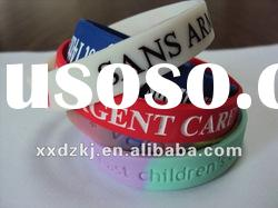 High quality custom silicone bracelets with all size