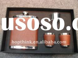 High quality stainless steel hip flask gift set