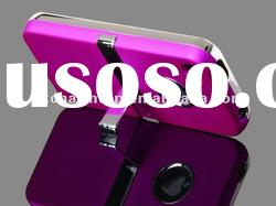 Hot Pink Chrome Kickstand Case for iPhone 4S