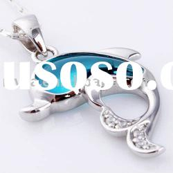 Hot sale newest 28x17mm fashion 100% 925 silver fish pendant fashion jewelry
