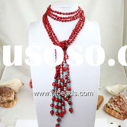 Hot sale red beaded necklace RBN0012