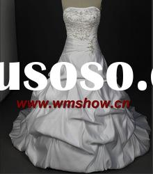 Latest Beautiful Ball Gown Embroidered Transparent Wedding Dresses