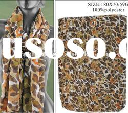Leopard Print Voile Scarf For 2012 Spring Summer