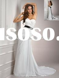 Lovely Sweetheart A-line Crystal Beaded Belt Sash Wedding Gowns