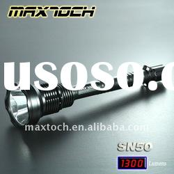 Maxtoch SN50 18W Luminus 1300LM 18650 Super Bright Aluminum Rechargeable LED Emergency Flashlight