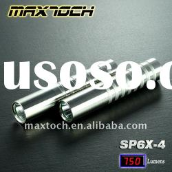 Maxtoch SP6X-4 8W T6 750LM 18650 Super bright Rechargeable Stainless steel LED Sport Light