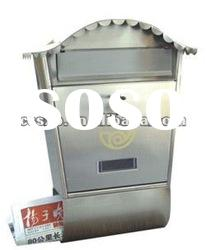 Metal mailbox with newspaper facility