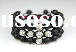 Newest 3 Row shamballa bracelet cross disco ball