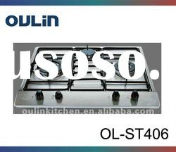 OULIN kitchen 3 gas burner stainless steel gas cooker OL-ST406