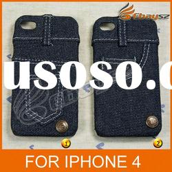 PY- New Stylish Jeans Protective Cover Case For iPhone 4 LF-0475