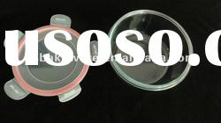 Round glass food container with pp lid,lock and lock,glass storage food container