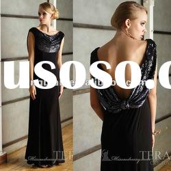 SC1544 floor length black maxi dress evening dress fashion 2012 by Terani couture