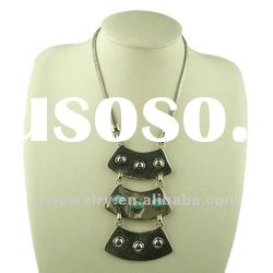 Three Layer Fashion Pendant Alloy Necklace, Chunky Pendant Jewelry